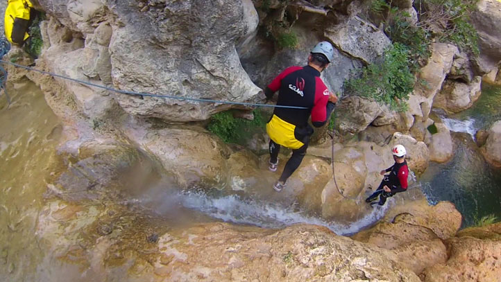 randonnee aquatique canyoning